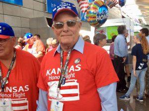 KHF veteran returning from a Kansas Honor Flight