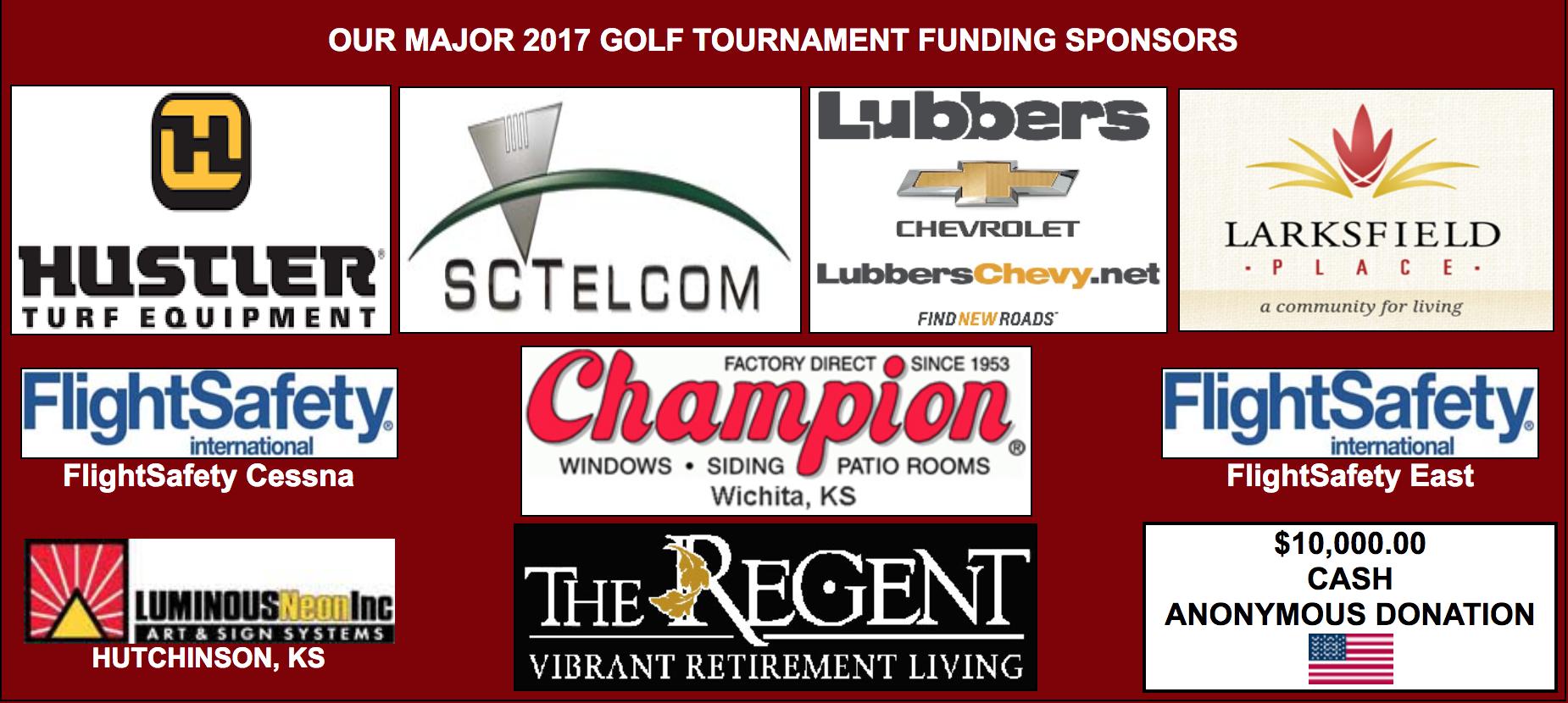 Major Sponsors of Kansas Honor Flight Golf Tournament 2017