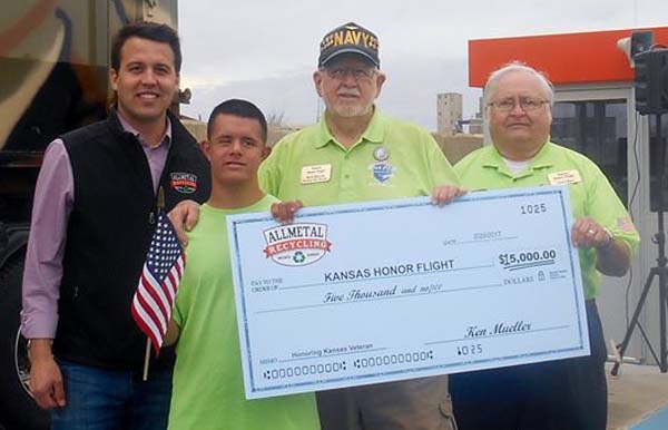 Donate to support the veterans of the Kansas Honor Flight