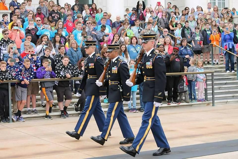 Kansas Honor Flight veterans enjoy various ceremonies.