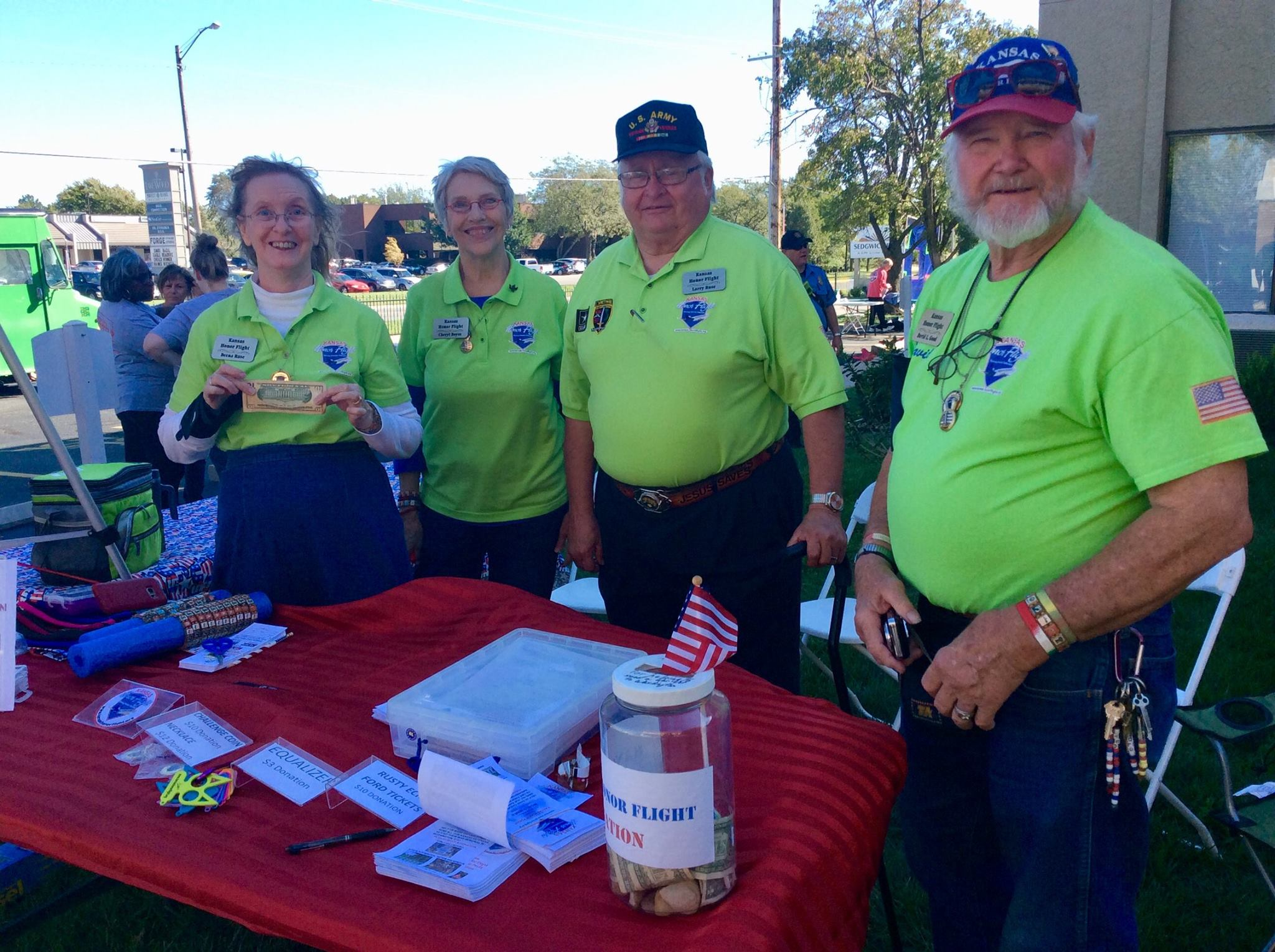 Kansas Honor Flight Donation Table