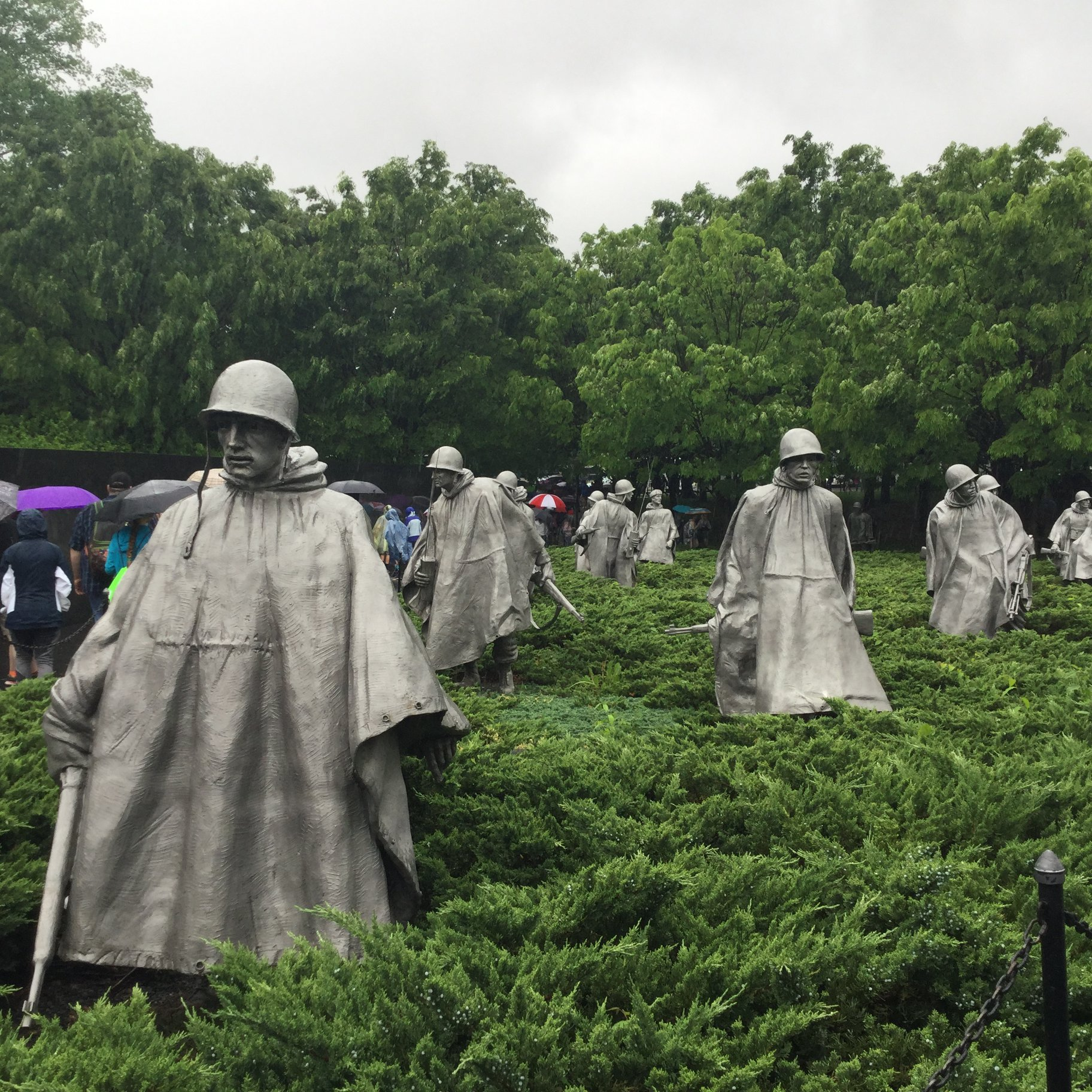Kansas Honor Flight at the Korean War Memorial