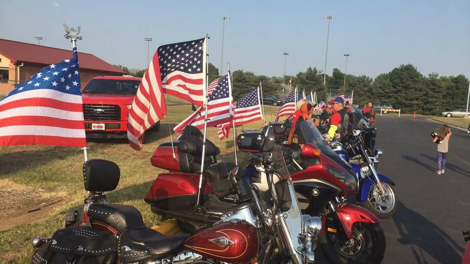 The American Legion Riders Flag Line supports the Kansas Honor Flight