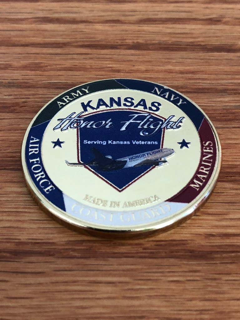 Challenge Coin on the Kansas Honor Flight Online Catalog Store