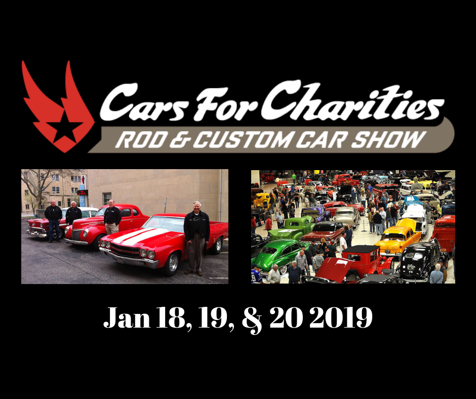 2019 Cars for Charity Rod and Custom Car Show Logo
