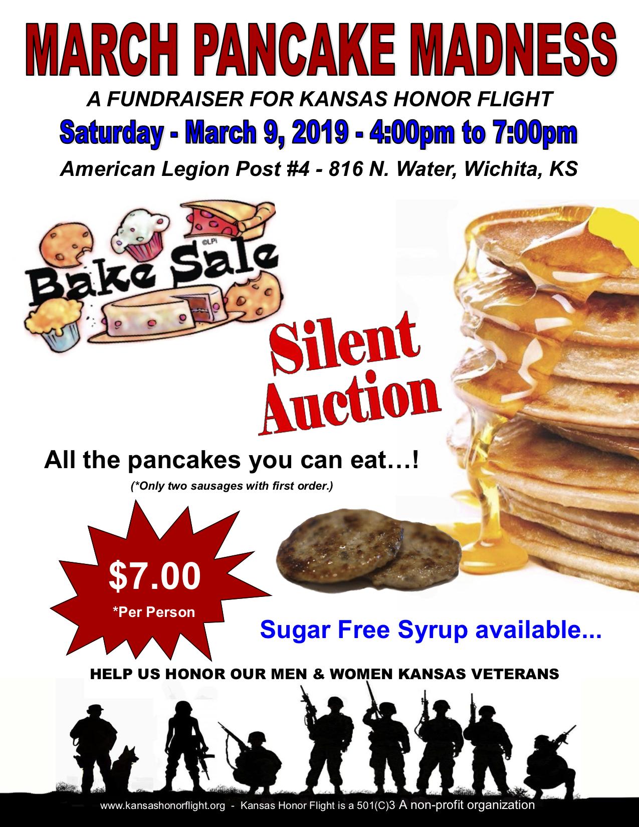 March Pancake Madness Fundraiser for Kansas Honor Flight
