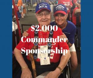 $2,000 Commander Sponsorship