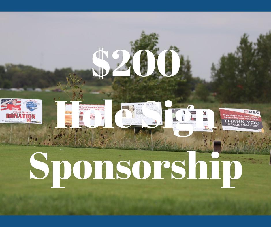 $200 Hole Sign Sponsor